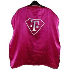 T-Mobile Satin Style Cape Hot Pink White T Logo